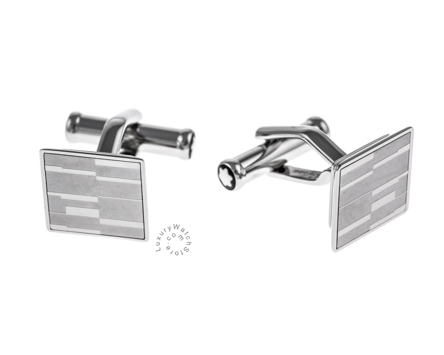 Montblanc Iconic Square Shaped Mystery Motif Steel Cuff Links 111316