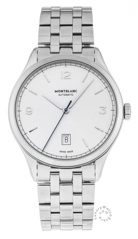 Montblanc Heritage Chronometrie Silver Dial Automatic Men Watch 112532