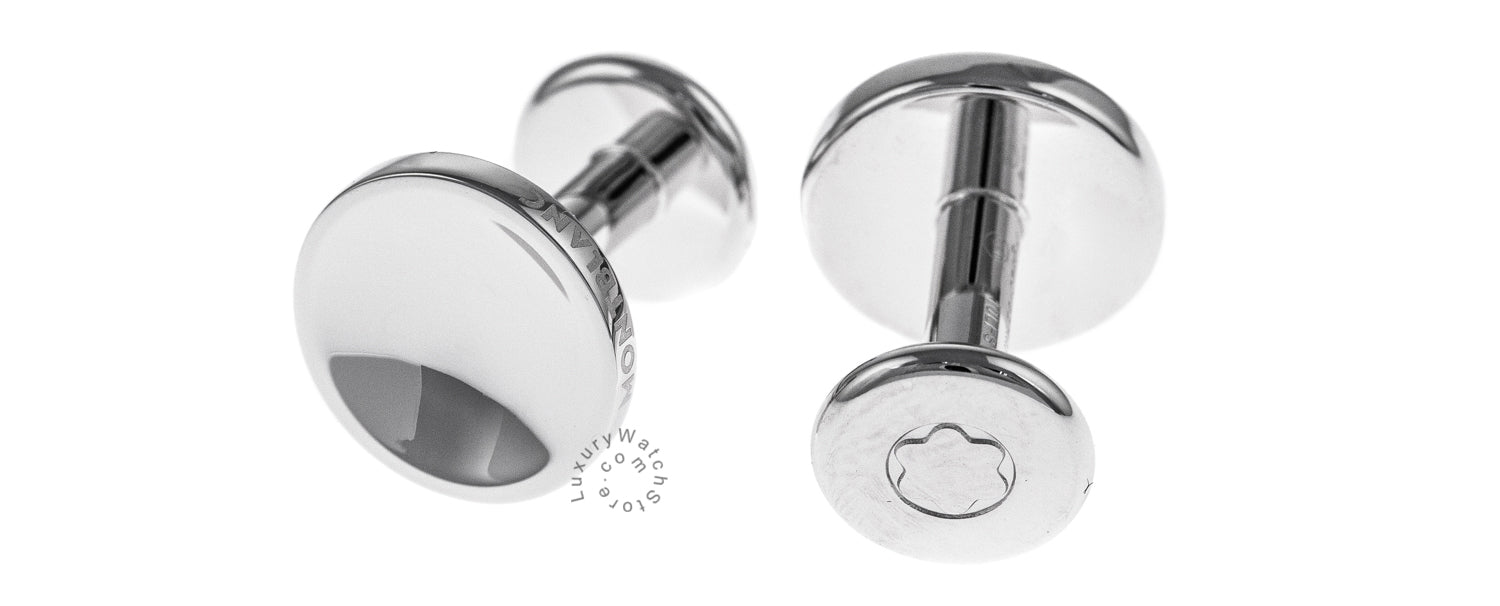 Montblanc 112910 Iconic 925 Sterling Silver 13MM Round Cuff Links