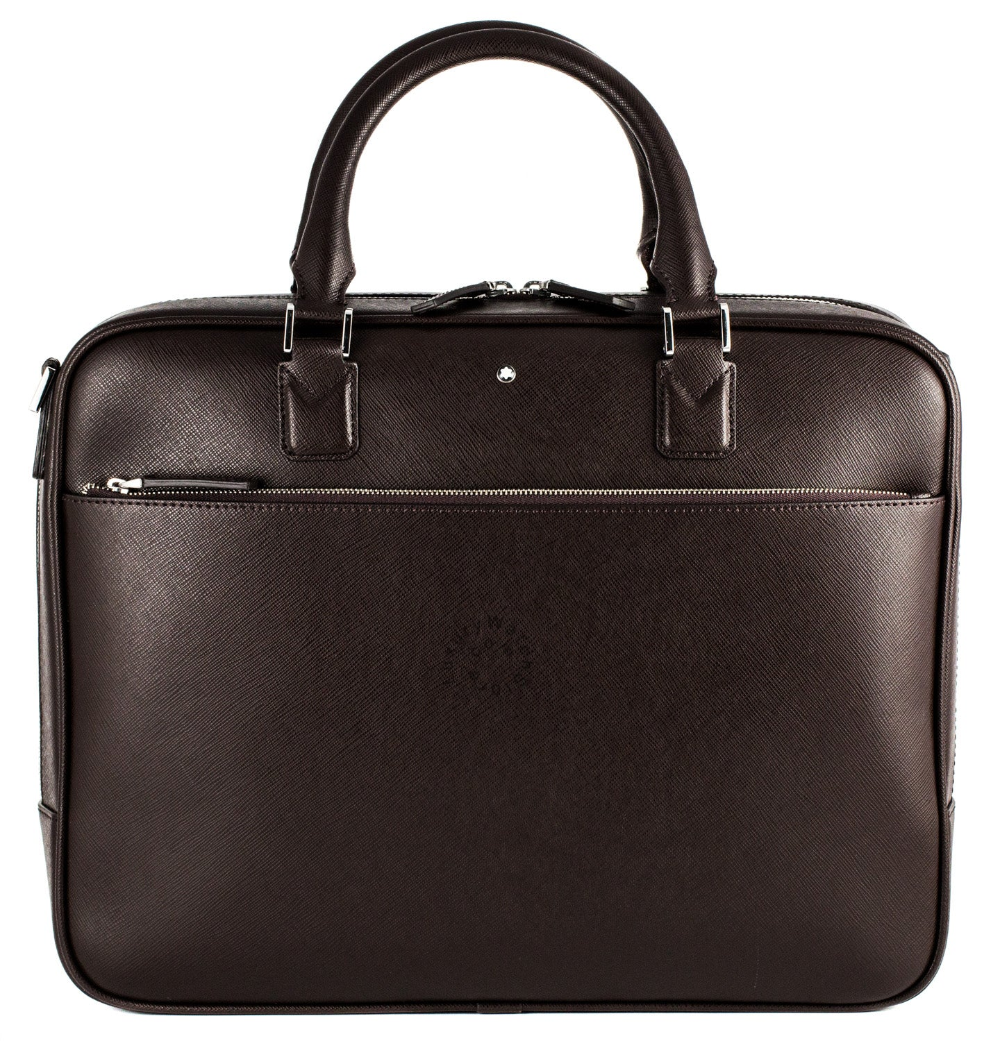 Montblanc Document Case Bussiness Brown Leather Bag 113185