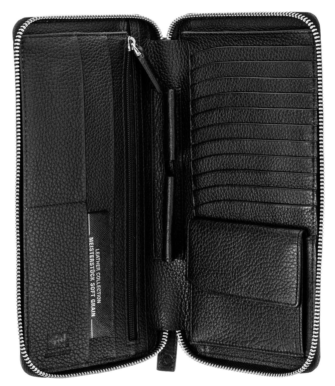 Montblanc Meisterstück 13CC Travel Zipper Black Leather Wallet 113304