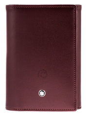 Montblanc Meisterstück Business Card Holder Burgundy Leather 114539