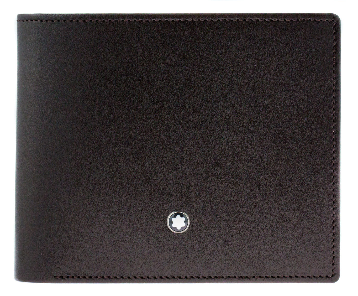 Montblanc Meisterstück 6cc 2 View Pockets Brown Leather Wallet 114549