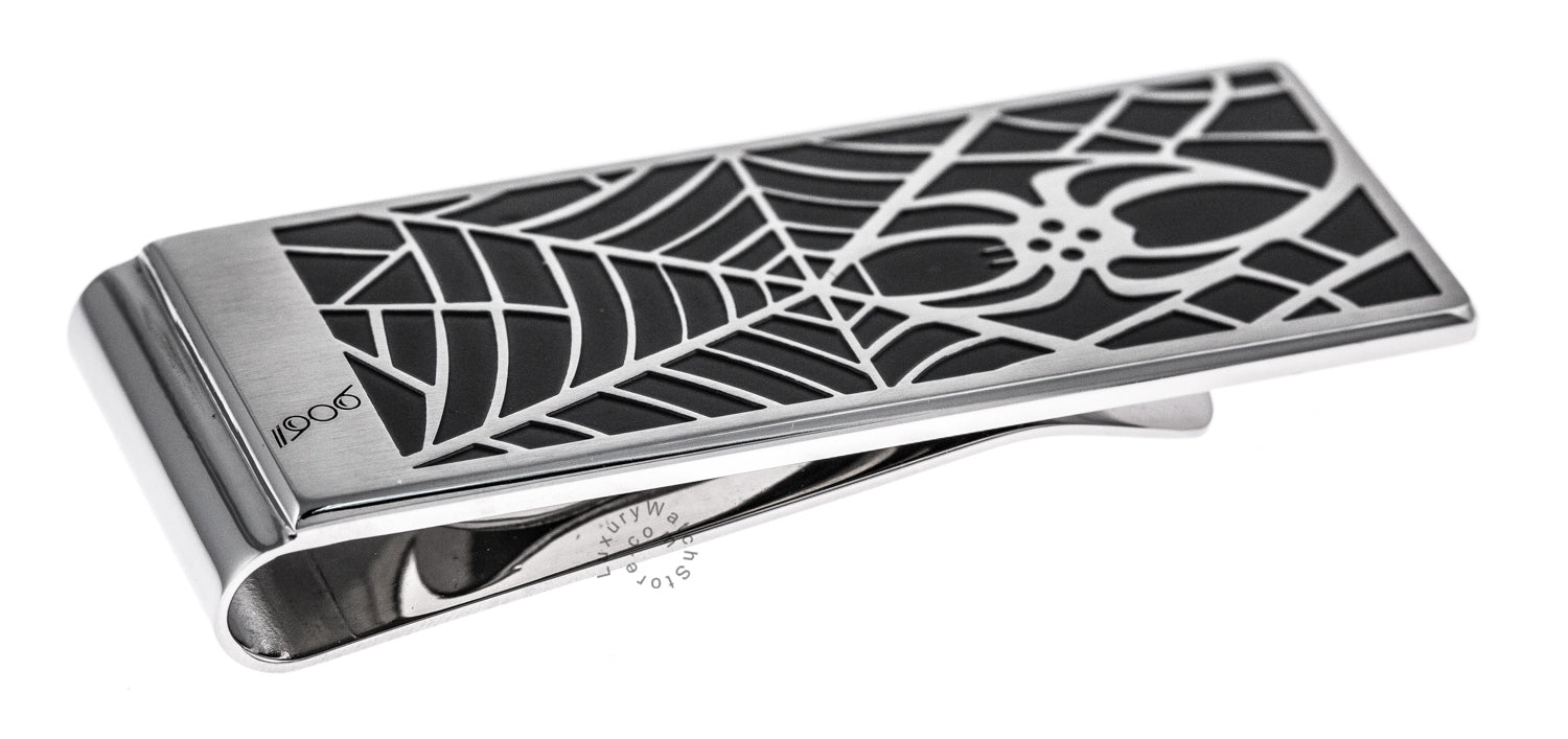 Montblanc Spider Collection Stainless Steel Money Clip 114709