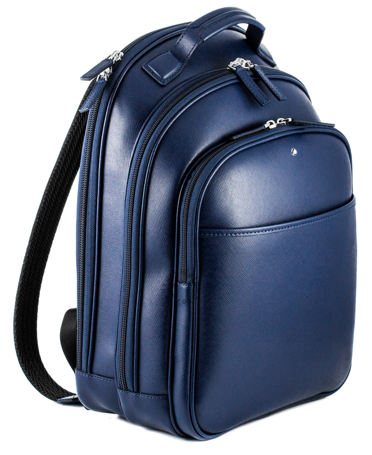 Montblanc Sartorial Print Small Indigo Leather Backpack 115629