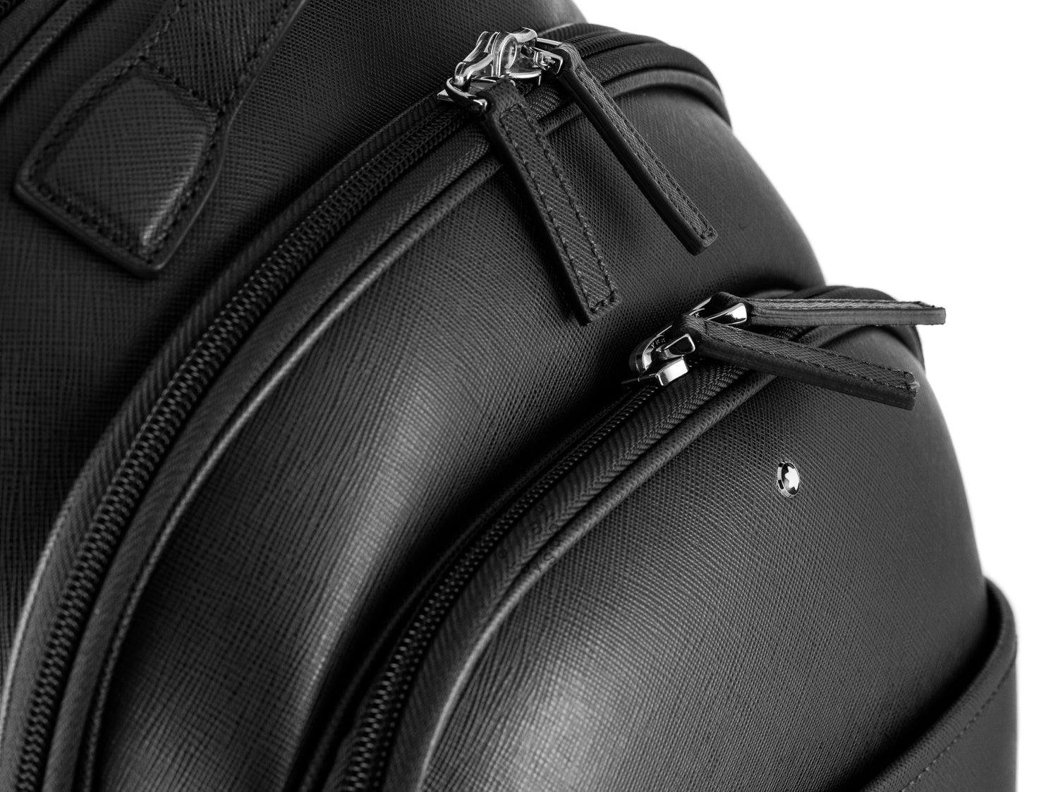 Montblanc Sartorial Dark Gray Leather Small Backpack 116323