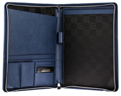 Montblanc Sartorial Zip Indigo Leather Large Notepad 116355