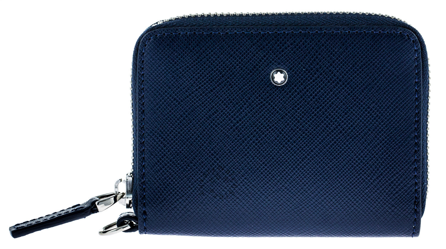 Montblanc Sartorial Indigo Leather Coin Case Zip View Carry Me 116370
