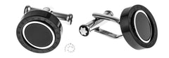 Montblanc Meisterstück Onyx Inlay PVD Rotating Ring Cuff Links 116665