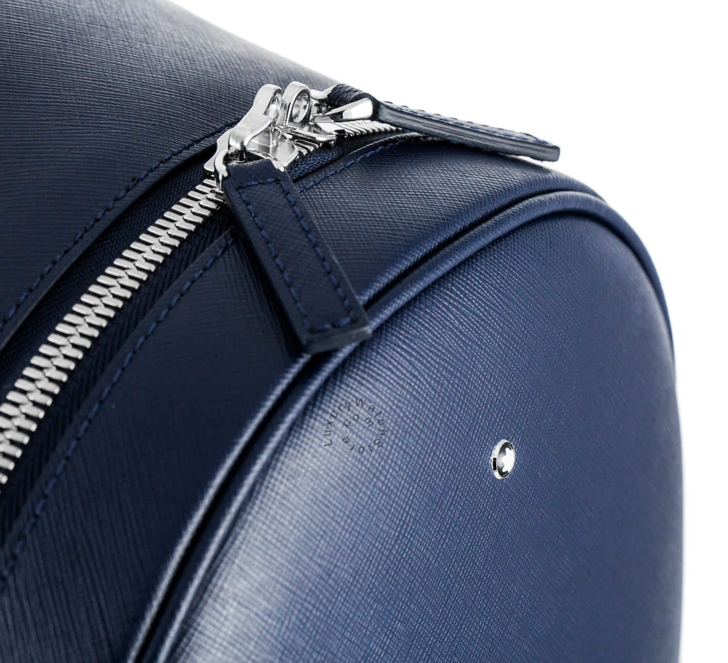 Montblanc Sartorial Blue Leather Small Dome Backpack 116752
