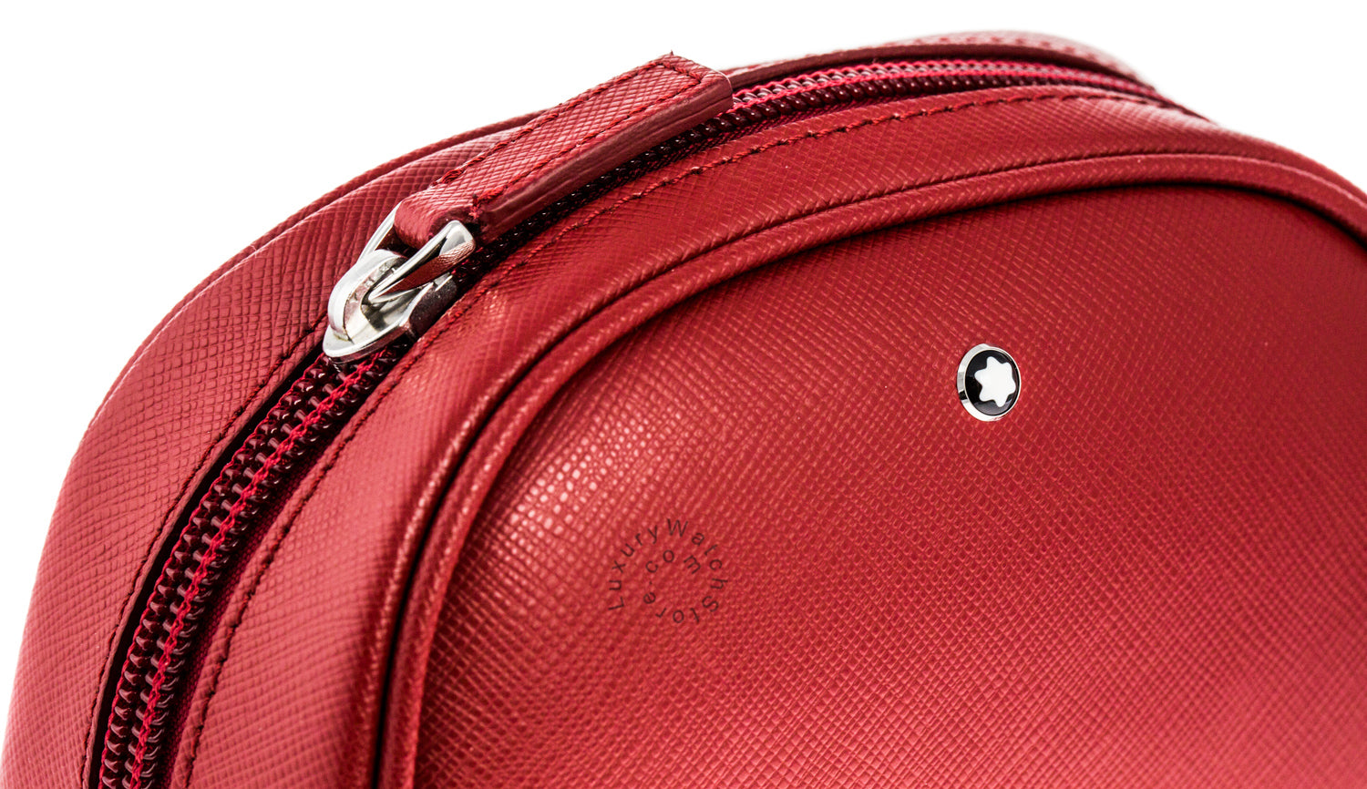 Montblanc Sartorial Red Saffiano Leather Vanity Bag Small  116765
