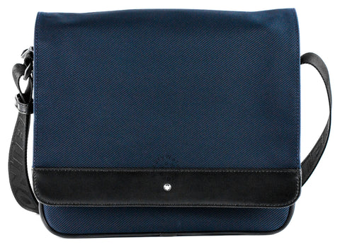 Montblanc Nightflight Blue Nylon Messenger Bag 116784