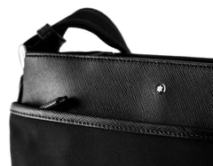 Montblanc Sartorial Jet Reporter Black Leather Medium Bag 116796