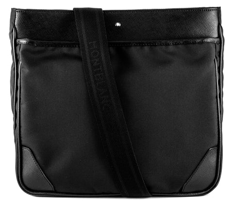 Montblanc Sartorial Jet Envelope Black Leather Medium Bag 116797