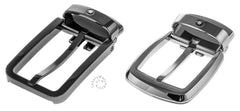 Montblanc Steel Trapeze & PVD Ruthenium Rectangle Gift Set Belt 116854