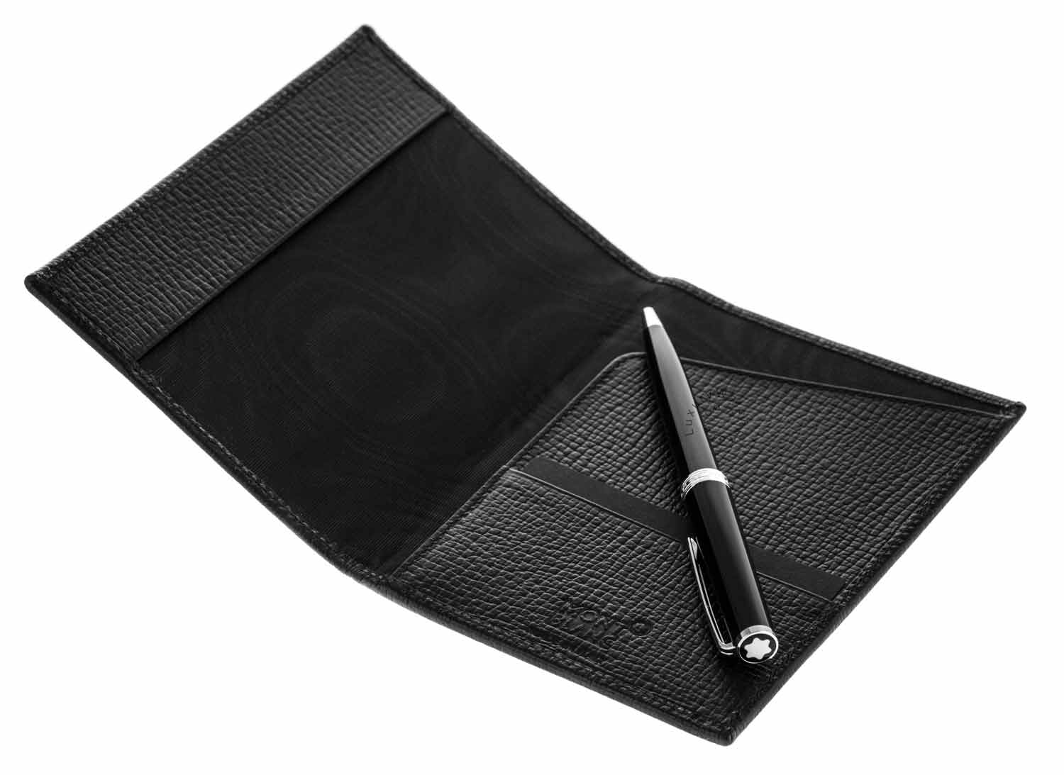 Montblanc PIX Black BP Pen & Meisterstück Passport Holder Set 117089
