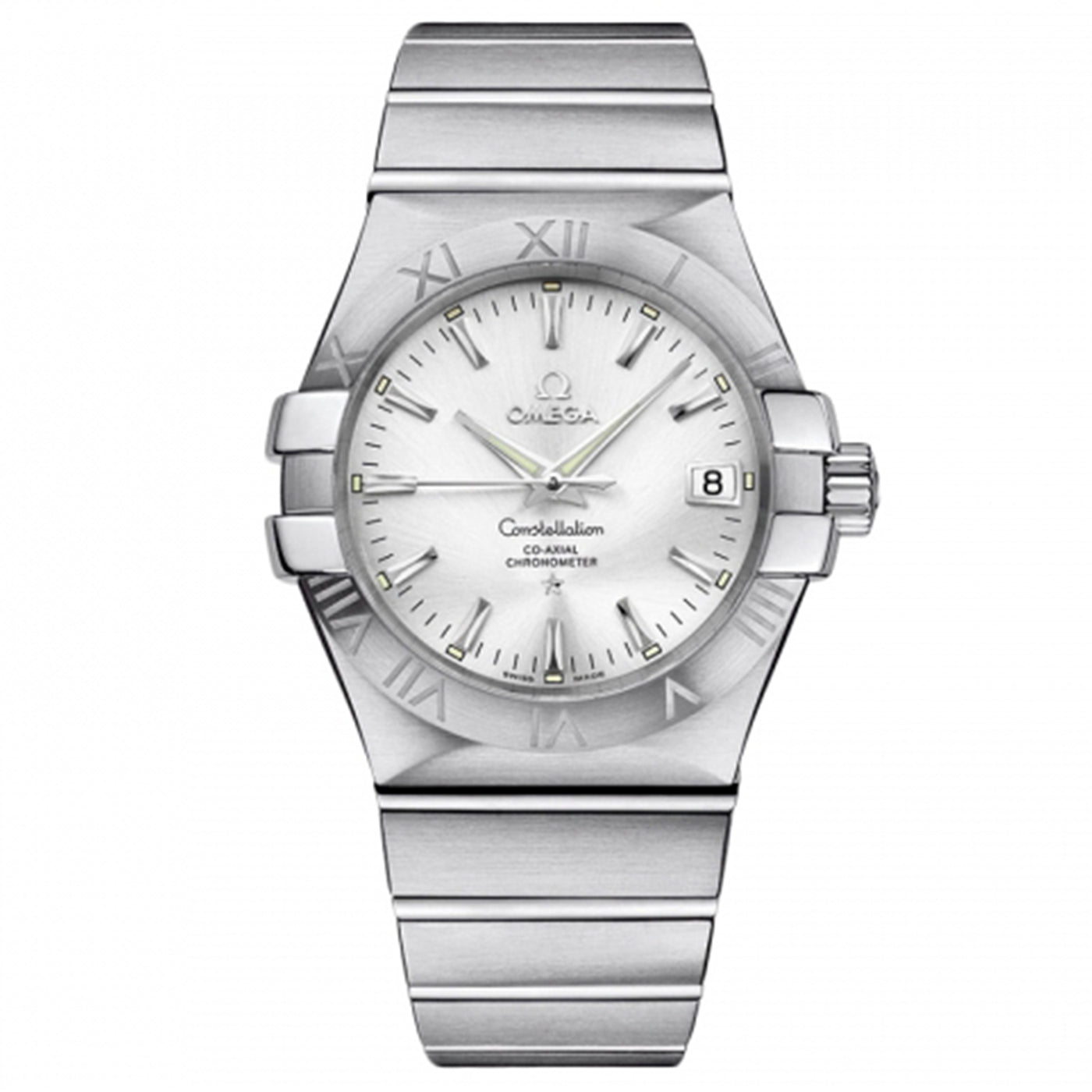 Omega Constellation Co-Axial Silver Dial Men Watch 123.10.35.20.02.001