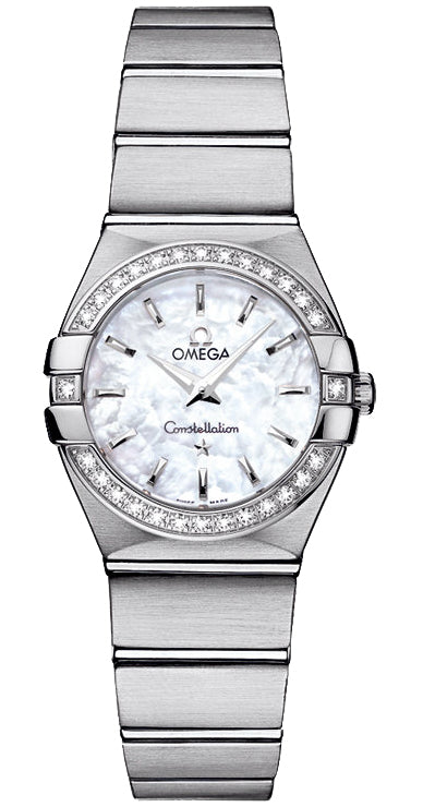 Omega Constellation 24MM Diamond MOP Women's Watch 123.15.24.60.05.001