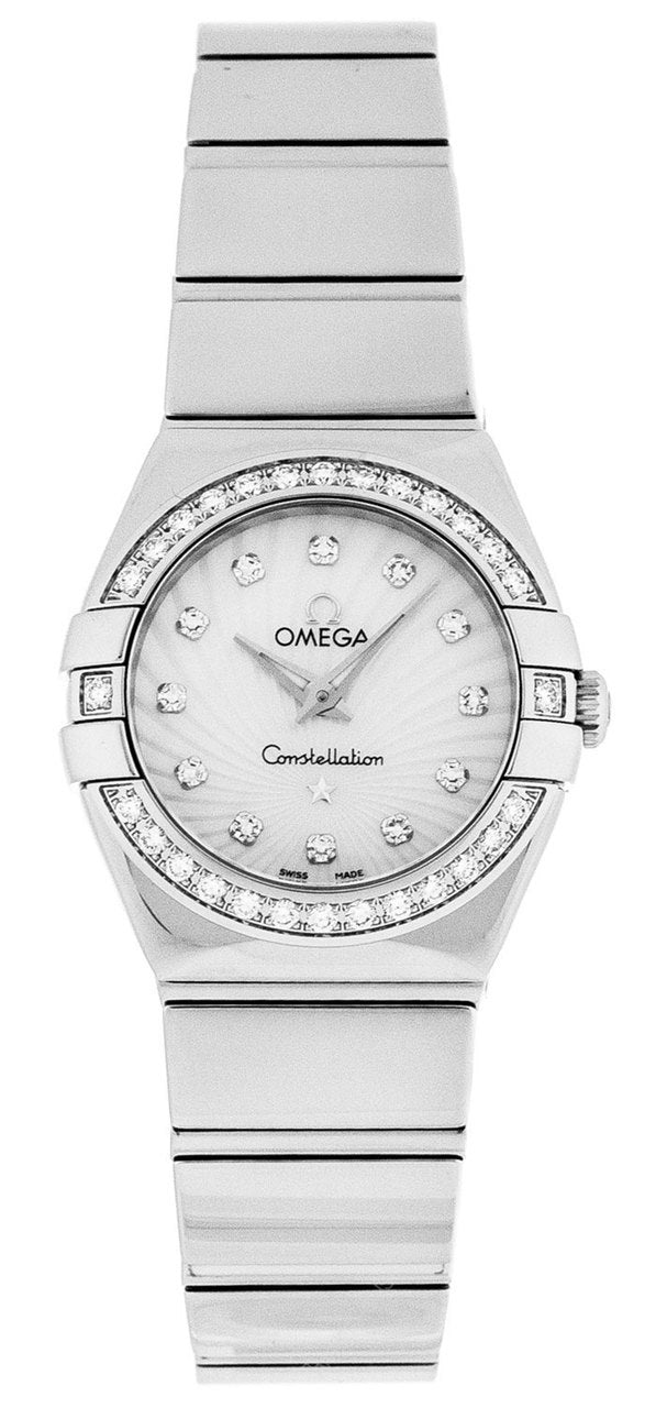 Omega Constellation 24MM MOP Diamond Women's Watch 123.15.24.60.55.004