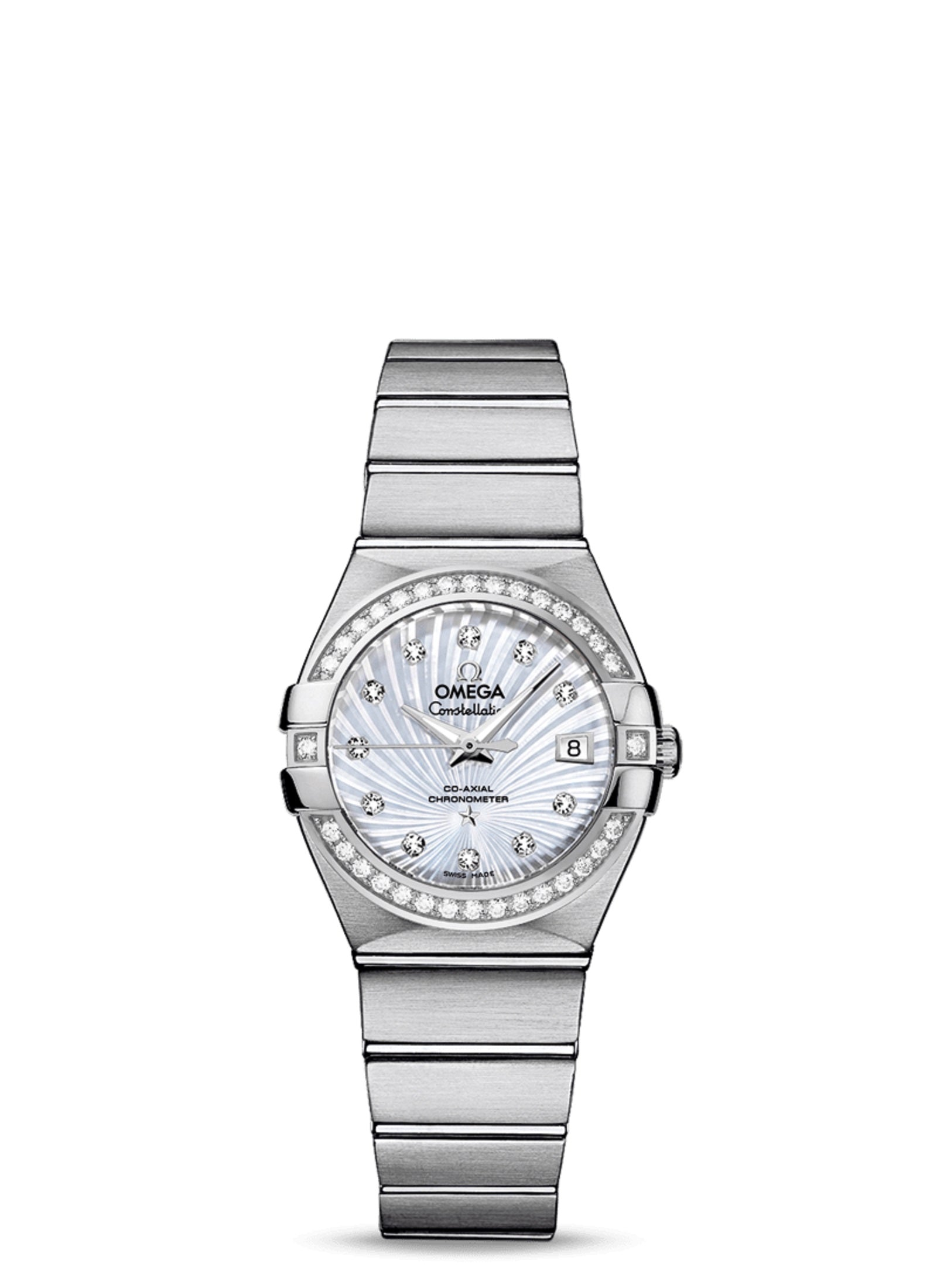 Omega Constellation 27MM Diamonds MOP Women Watch 123.15.27.20.55.001