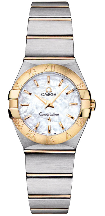 Omega Constellation MOP 24MM 18KY SS Women's Watch 123.20.24.60.05.002