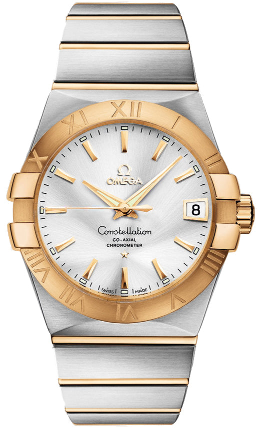Omega Constellation Co-Axial 38MM 18KY Men's Watch 123.20.38.21.02.002