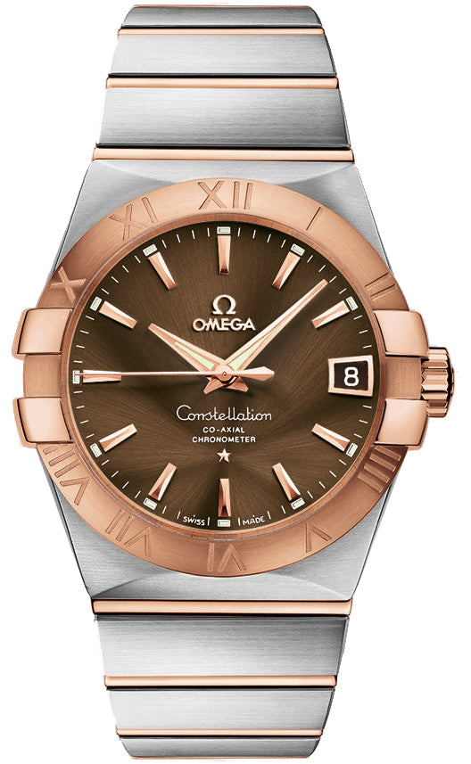 Omega Constellation Co-Axial 38MM 18KR Men's Watch 123.20.38.21.13.001