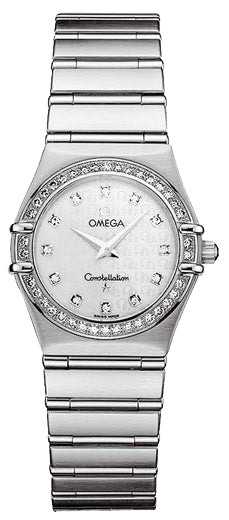 Omega Constellation 95 Diamond White Pearl Dial Women Watch 1458.75.00