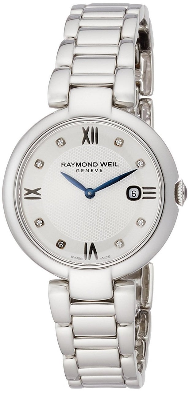 Raymond Weil Shine 8 Diamonds 32MM Women Watch 1600-ST-RE695