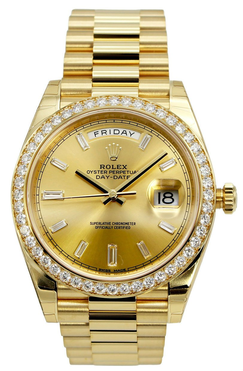Rolex Perpetual Day Date 40 Champ 18Ct YG Diamonds President 228348R