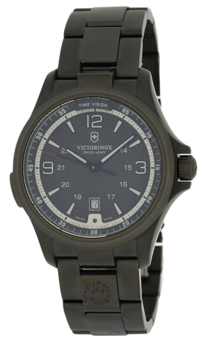 Victorinox Swiss Army Night Vision Black Dial Steel Men's Watch 241665