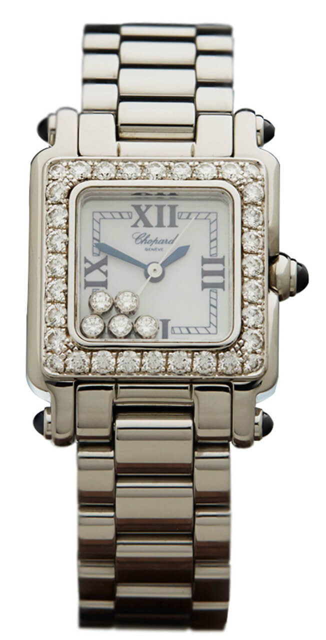 Chopard Happy Sport 5 Floating 1 Row Diamonds Women Watch 27.8895-2004