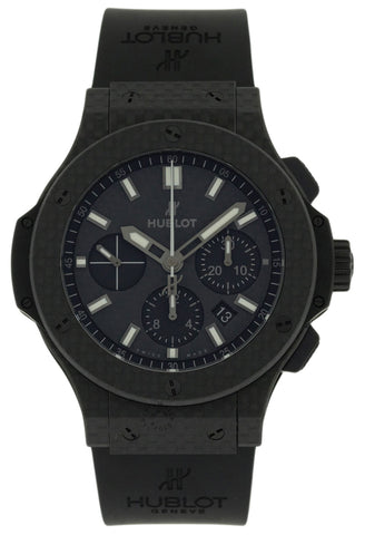 Hublot Big Bang All Carbon Chrono BLK Dial Rubber Watch 301.QX.1724.RX