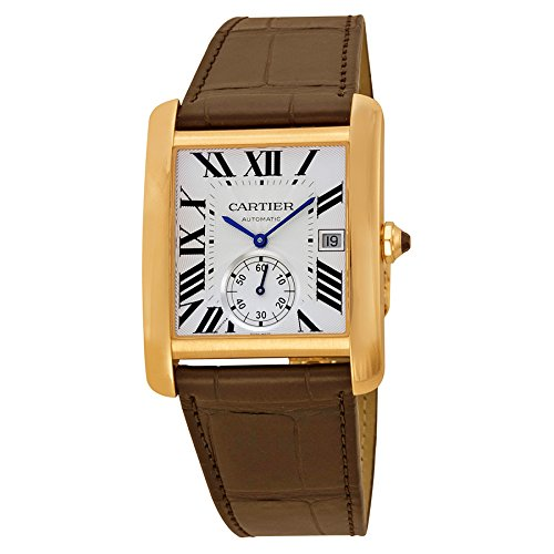 Cartier Tank MC Automatic 18K Rose Gold Brown Leather Men's Watch W5330001