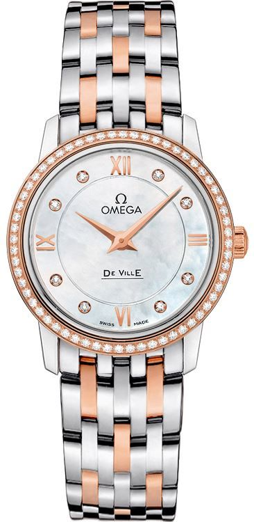 Omega De Ville Prestige MOP 27.4 Diamonds Watch 424.25.27.60.55.002