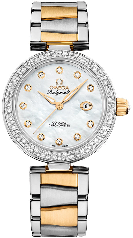 Omega Ladymatic Co-axial MOP Dial Diamonds Watch 425.25.34.20.55.003