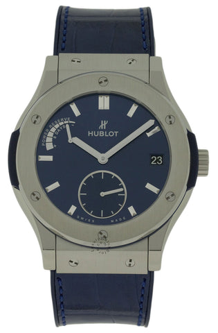 Hublot Classic Fusion Power Reserve Titanium Blue Watch 516.NX.7170.LR