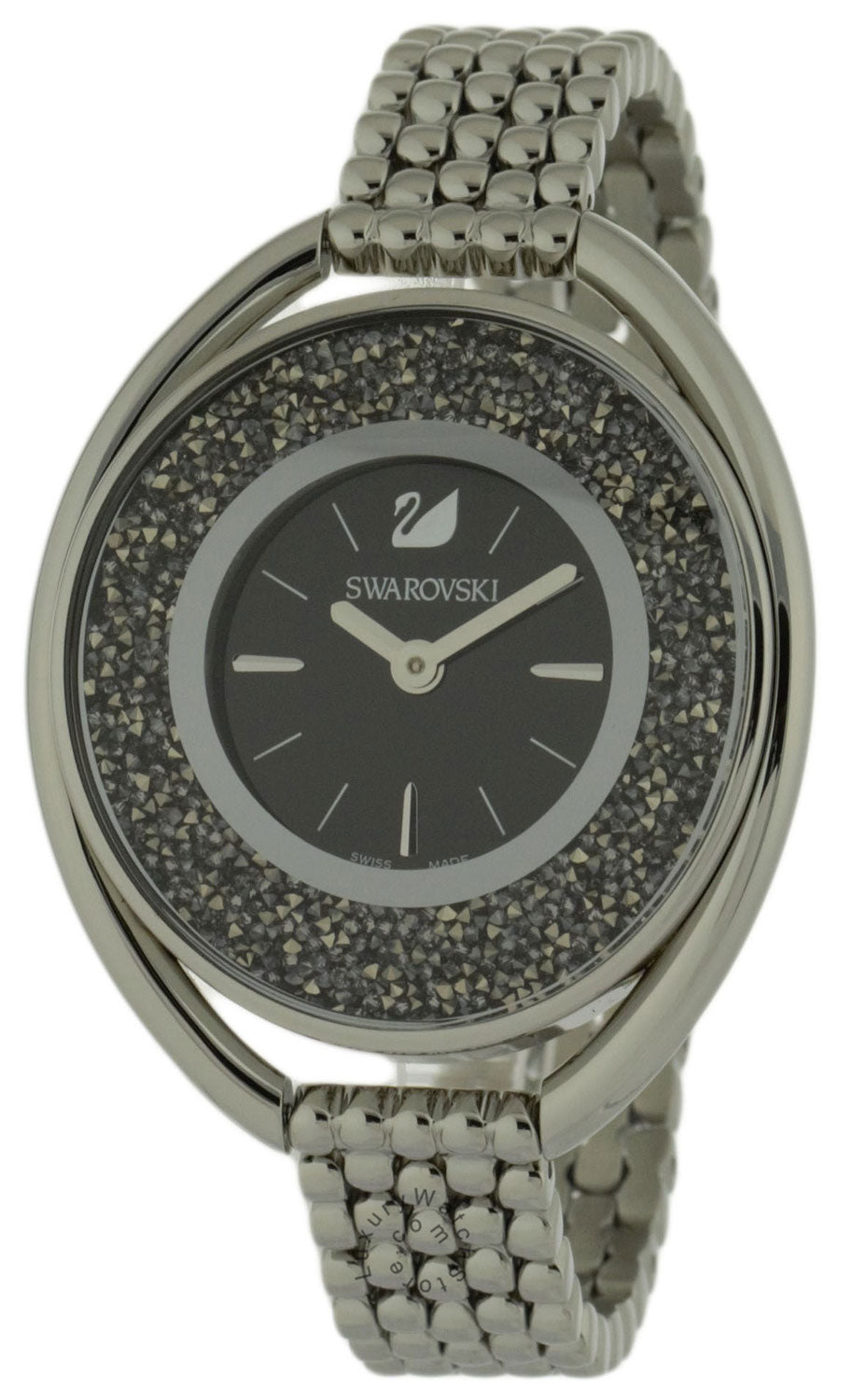 Swarovski Crystalline 1700 Crystals Oval Black Bracelet Watch 5181664