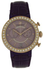 Swarovski Citra Sphere Chronograph Violet Leather Strap Watch 5210211