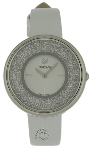 Swarovski Crystalline Pure 850 Crystals WHT Leather Band Watch 5275046