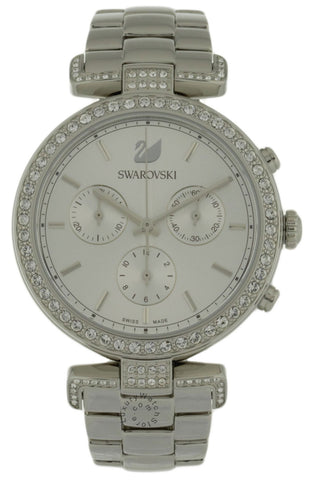 Swarovski Era Journey 50 Crystal WHT Sunray Dial Steel Watch 5295363