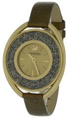 Swarovski Crystalline Oval 1700 Brown Crystals Golden Watch 5296314