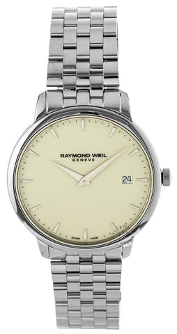 Raymond Weil Toccata 42MM Ivory Dial Steel Men's Watch 5588-ST-40001