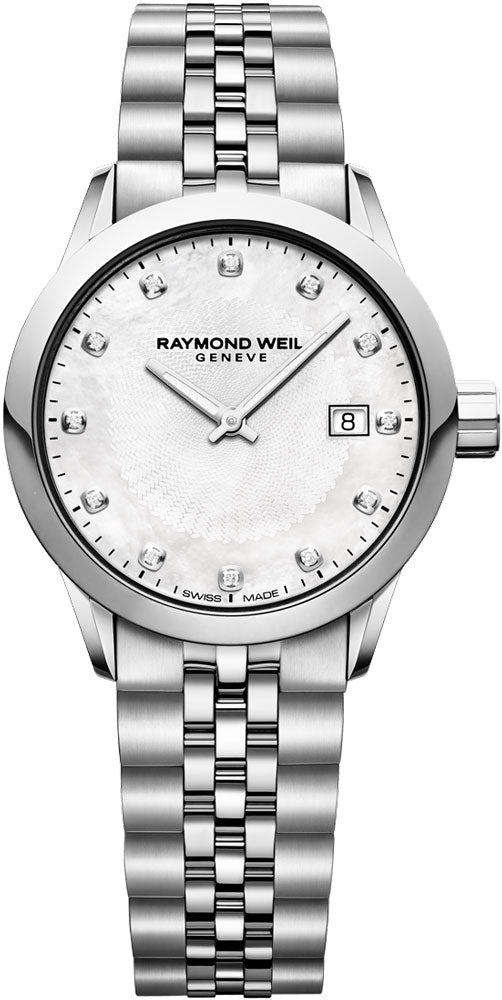 Raymond Weil Freelancer 12DIA Mother of Pearl Dial Watch 5629-ST-97081