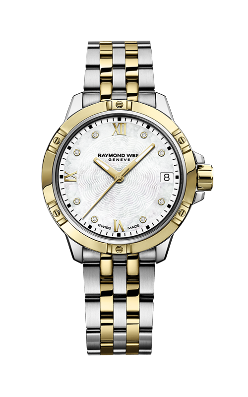 Raymond Weil Tango White Dial Two Tone Women's Watch 5960-STP-00308