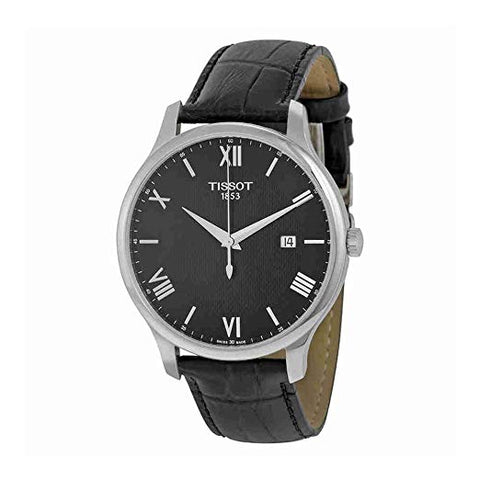 Tissot T-Classic Tradition Date Black Leather Men's Watch T0636101605800