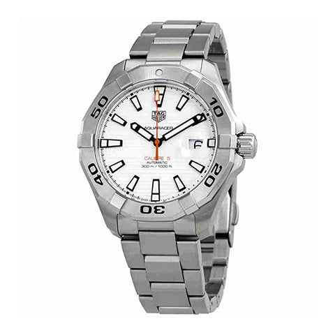 Tag Heuer Aquaracer White Dial Stainless Steel Men's Watch WAY2013.BA0927