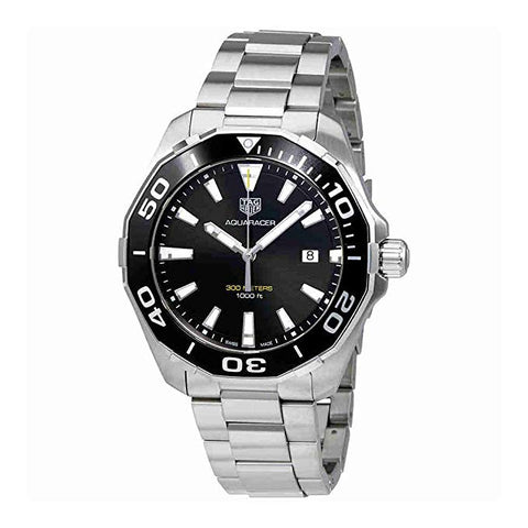 Tag Heuer Aquaracer 300M Quartz Black Dial Men's Watch WAY101A.BA0746