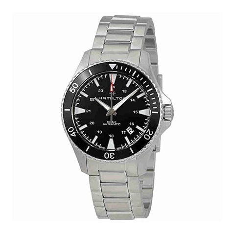 Hamilton Khaki Navy Scuba Auto 40MM Black Dial Stainless Steel Band Men's Watch H82335131