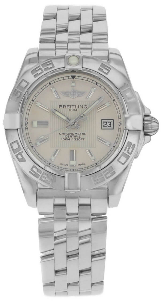 Breitling Galactic 32 Silver Dial Auto Women Watch A71356L2/G702/367A